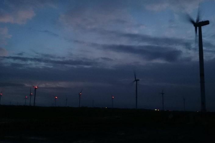 Windenergieanlagen in Langenhorn und Ockholm